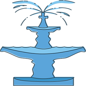 Traditions icon of fountain